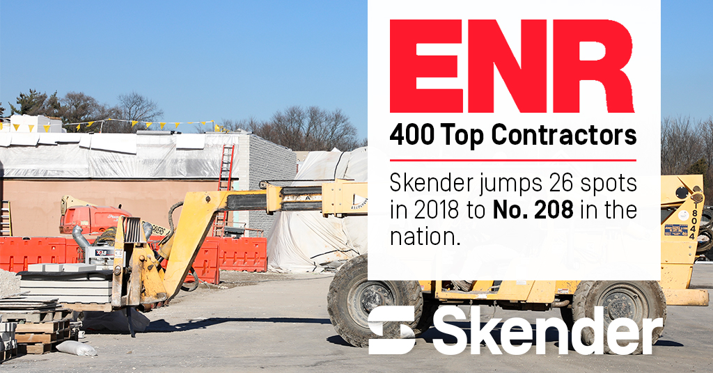 Skender Ranks Among Top U.S. Contractors, Climbs 26 Spots on National List
