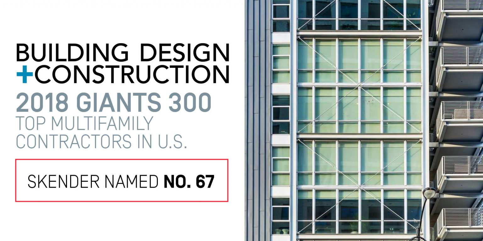 Skender Ranks Among Nation's Top 130 Contractors - September 10, 2018