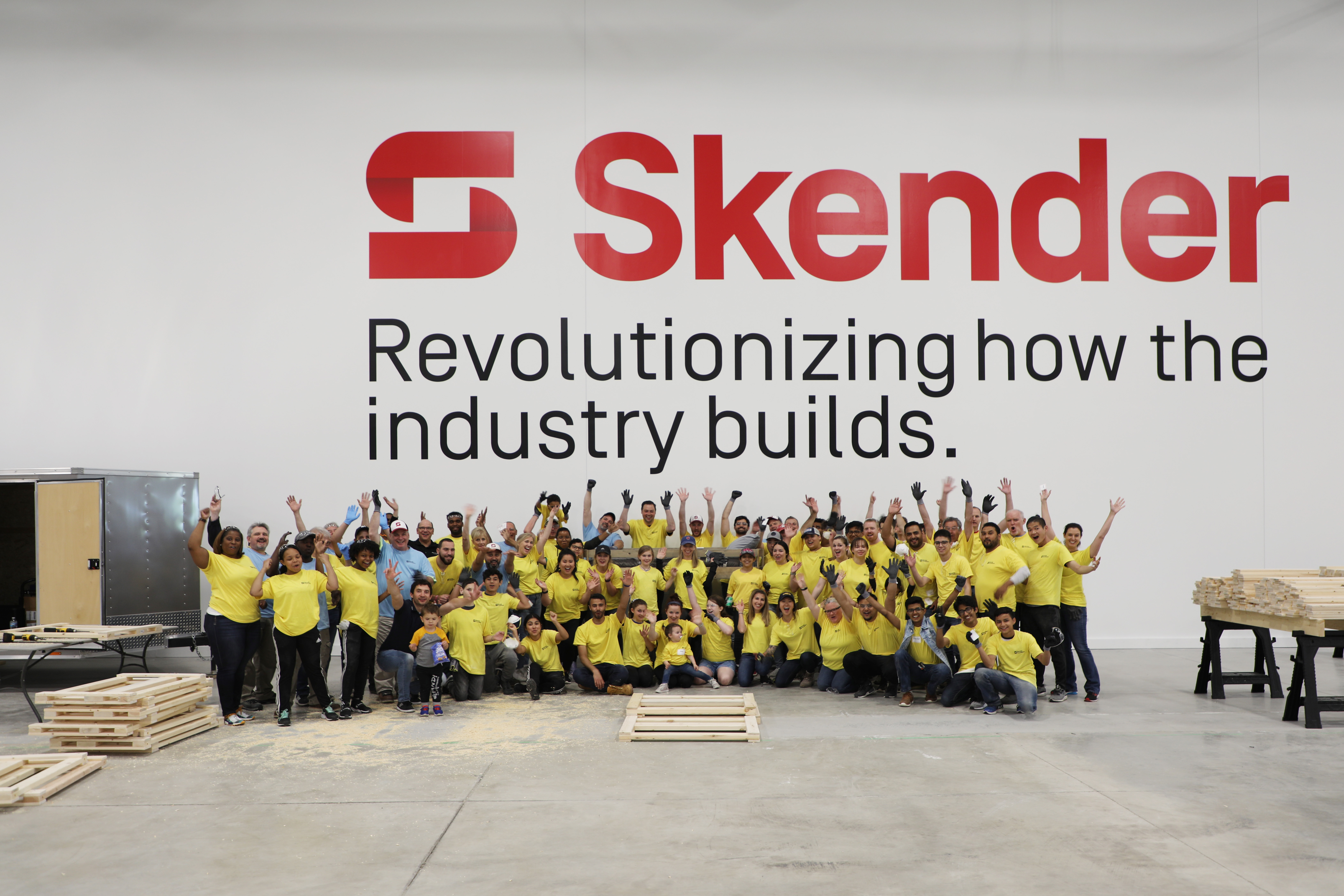 Skender Partners with Sleep in Heavenly Peace for Annual Volunteer Day
