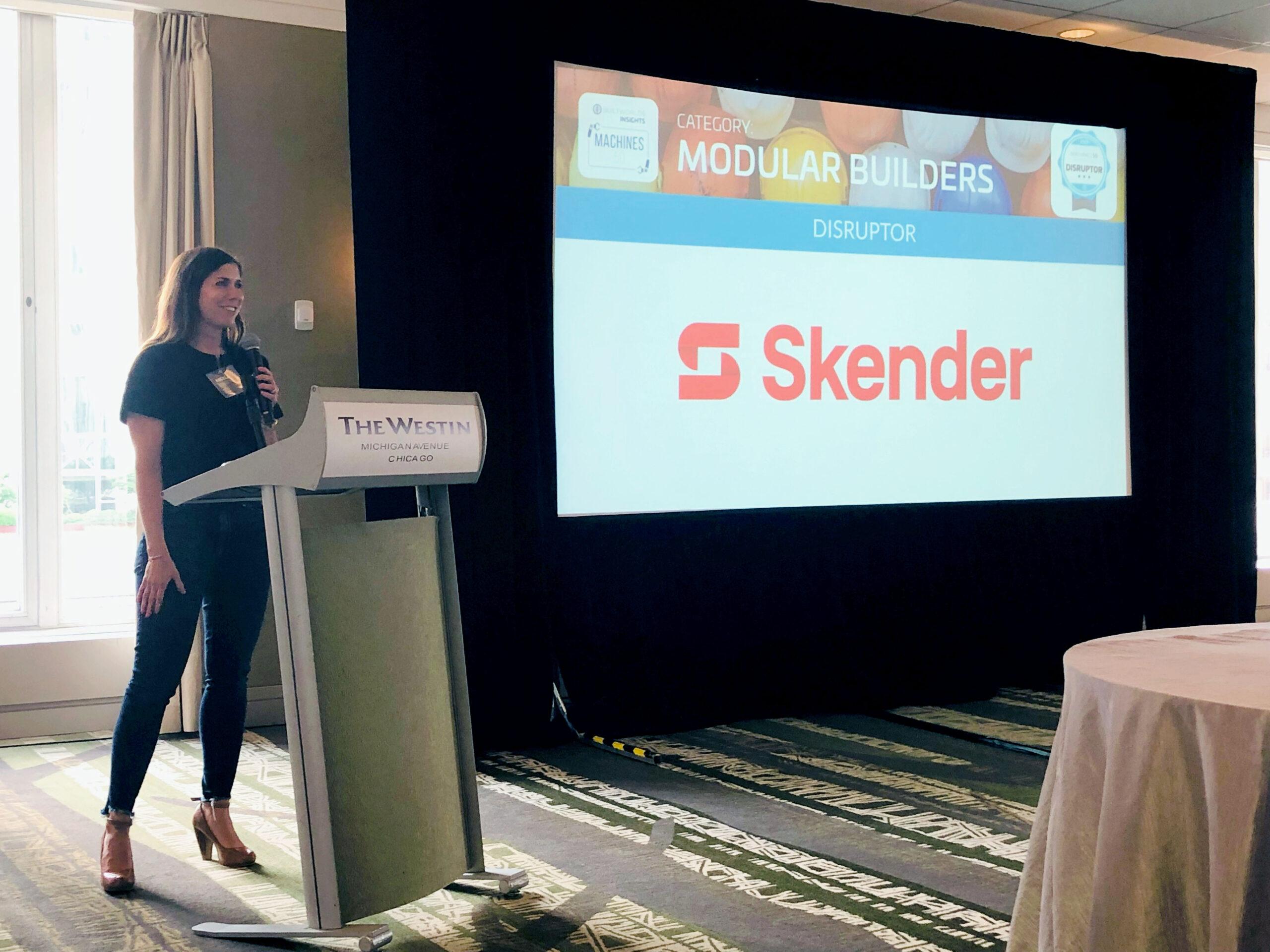 Skender Wins DISRUPTOR Award at BuiltWorlds' Machines Conference