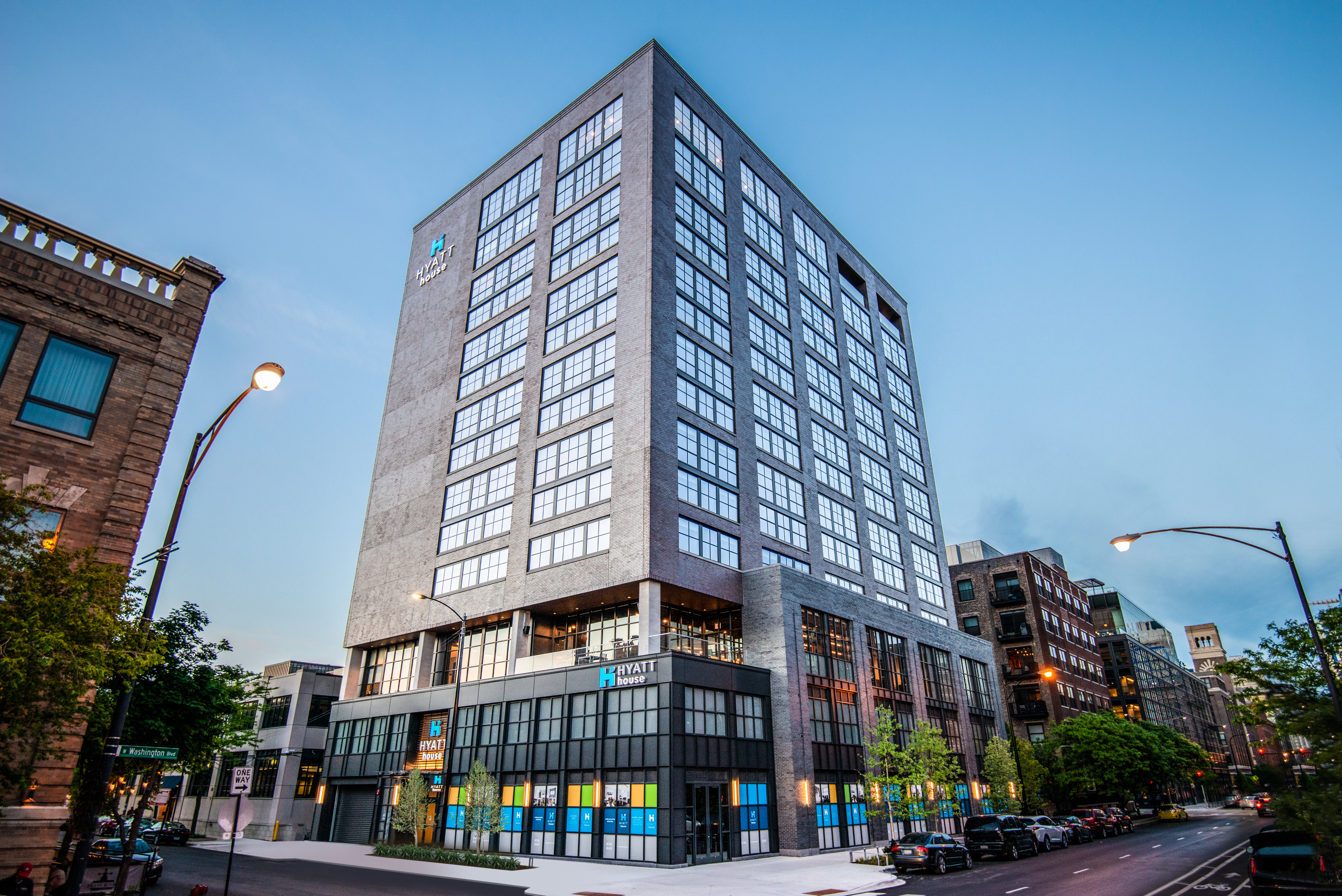 Skender Completes 14-story, 167,000-SF Hyatt House Hotel,  a New Sterling Bay Development in the Fulton Market District