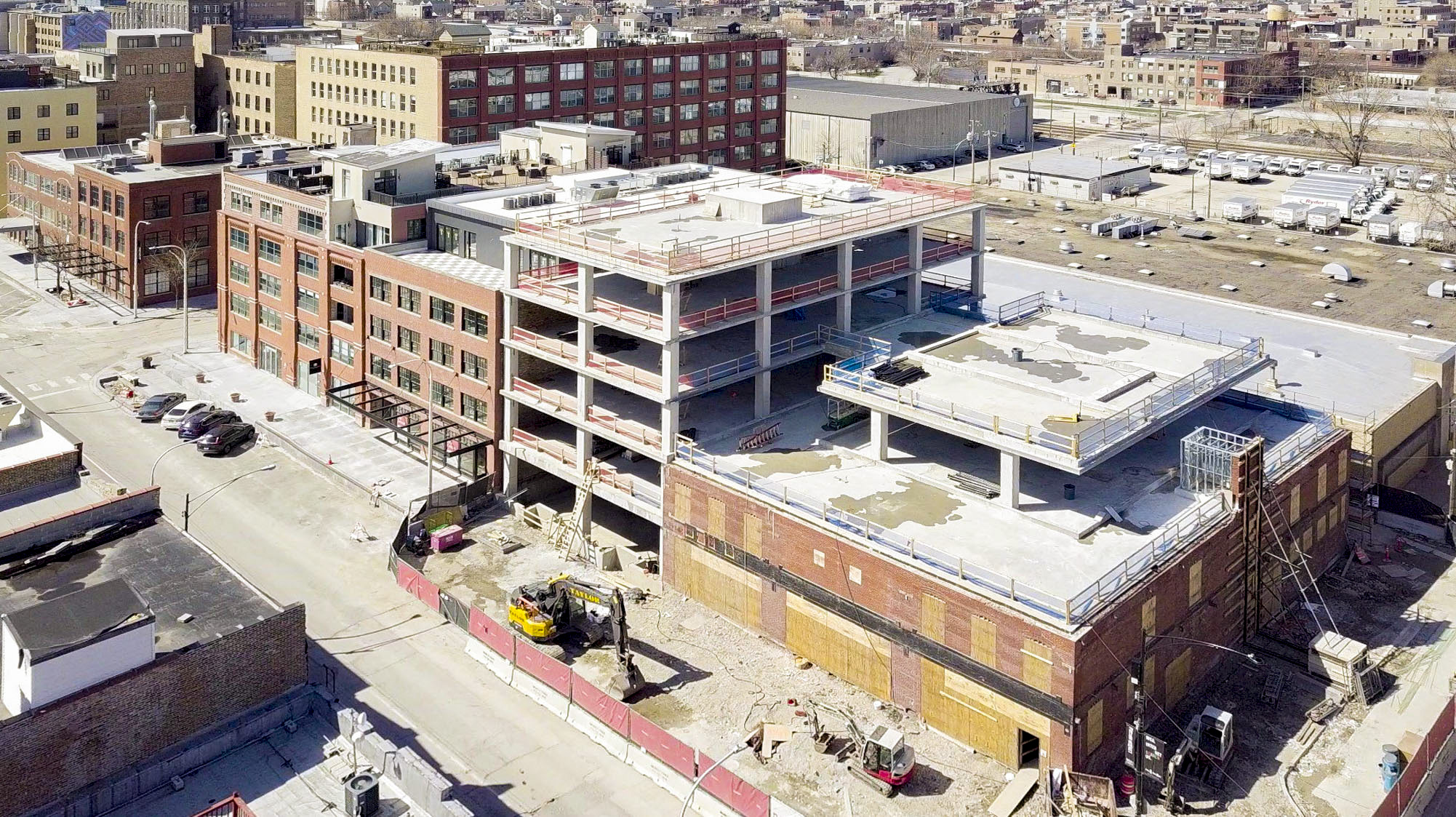 Construction Tops Out at 1100 W. Fulton, a Five-Story, Single-Tenant, Mixed-Use, Commercial Building for Fulton St. Companies and Herman Miller