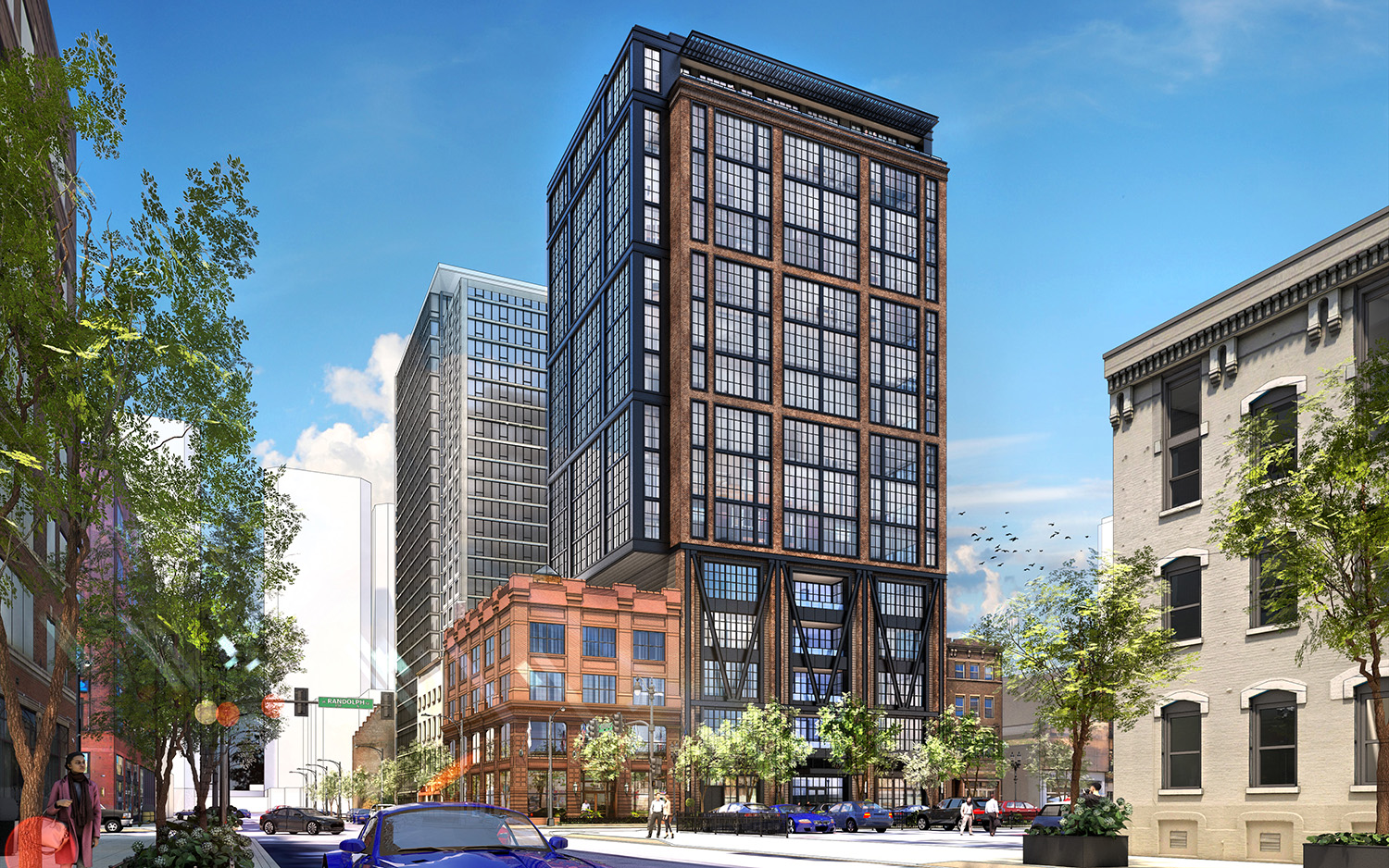 Skender Starts Construction on 609 W. Randolph, a 15-story Office Building in Chicago's West Loop Gate